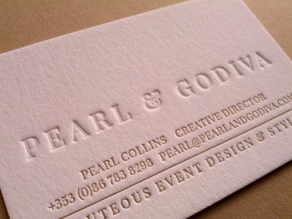 Sample Business Card // Letterpress Business Card