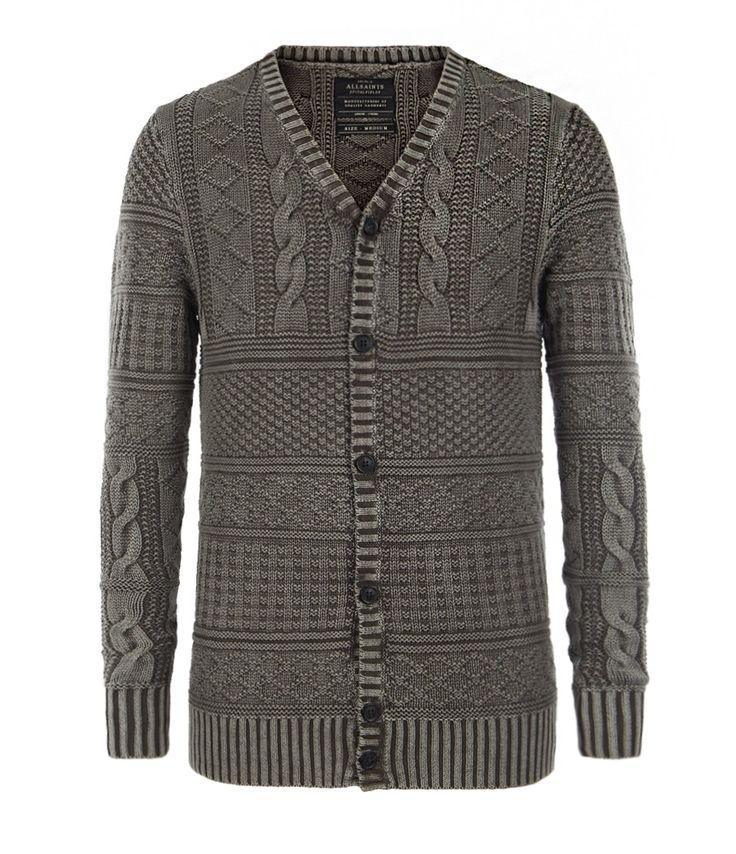 Valkyrie Cardigan, Men, Knitwear, AllSaints Spitalfields