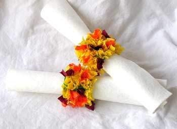 Indian Corn Napkin Ring Holders