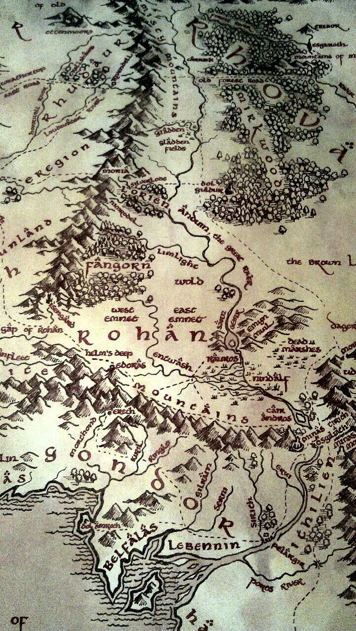 Map Of Middle Earth Middle Earth Map Lord Of The Rings Tattoo