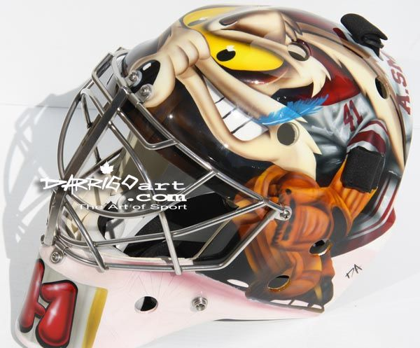 My favorite Hockey Mask of the 2011 to 2012 season is Mike Smith's of the Phoenix Coyotes