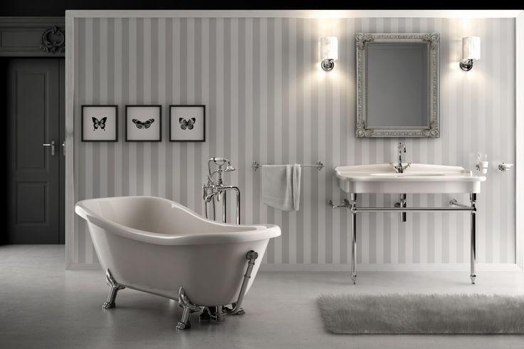 Znalezione obrazy dla zapytania małe łazienki w stylu agielskim