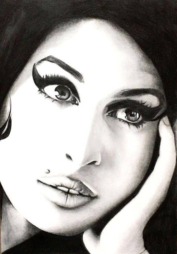 Amy Winehouse Poster Amy Winehouse Wall Art Amy Winehouse Freehand Drawing Amy Winehouse Art Print Amy Winehouse Art Wall Amy Winehouse Art Amy Winehouse Amy Winehouse Style Winehouse