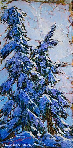 David Langevin, 'The Side Of Winter', 6'' x 12'' | Galerie d'art - Au P'tit Bonheur - Art Gallery