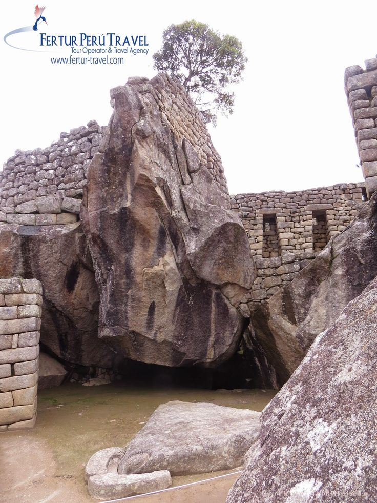 The Temple of the Condor at Machu Picchu, an example of Inca architecture poetically and spiritually melded with the natural landscape.