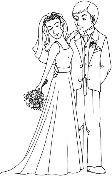 26 best Coloring Wedding images on Pinterest Wedding cards