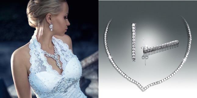 Nouvelles parures bijoux mariage de luxe odazz