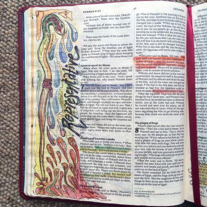 Representative. Draw Close Blog. God used Moses as His representative. Aaron, Apep, bible art, bible journal, bible journaling, bible study, blood, Exodus 7, false gods, gods, in His hand, life, Moses, Nile, pharaoh, prophet, Ra, snake, staff, Wadjet
