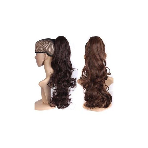 Long Ponytail Hair Piece - Wave ($11) ❤ liked on Polyvore featuring accessories, hair accessories, wig and long hair accessories
