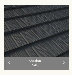 Gerard Corona Shake Satin Metal Tile Obsidian.  Corona Shake - Angle Capping