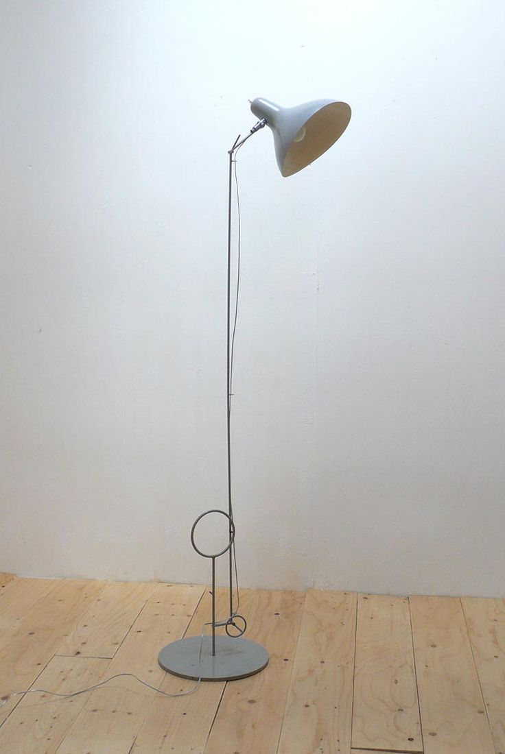 chromed and enameled metal unique floor lamp