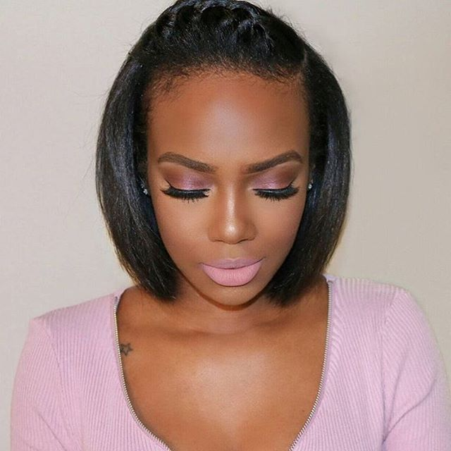 So pretty! @tamiastyles | #thecutlife #shorthair #boblife #makeup #beauty…