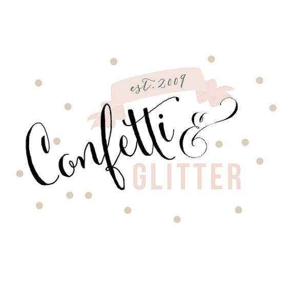 Premade Confetti and Glitter Chic Logo // Boutique Logo // Photography Logo// Business Branding on Etsy, $25.00