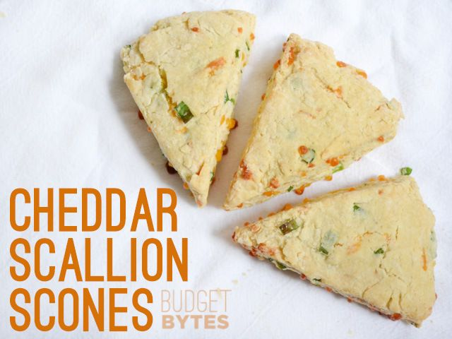 Cheddar Scallion Scones | Recipe | Scones, Budget and Green Onions