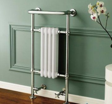 Small Traditional White Towel Rail Radiator - 952x405mm [PT-RT01] - £175.99 : Platinum Taps & Bathrooms