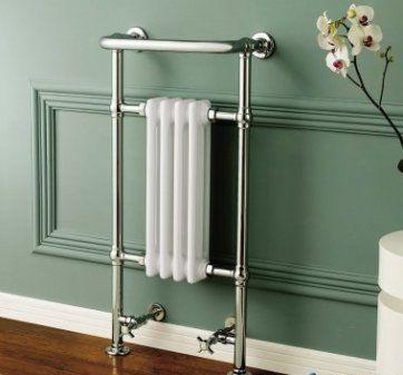 Small Traditional White Towel Rail Radiator - 952x405mm [PT-RT01] - £175.99 : Platinum Taps & Bathrooms