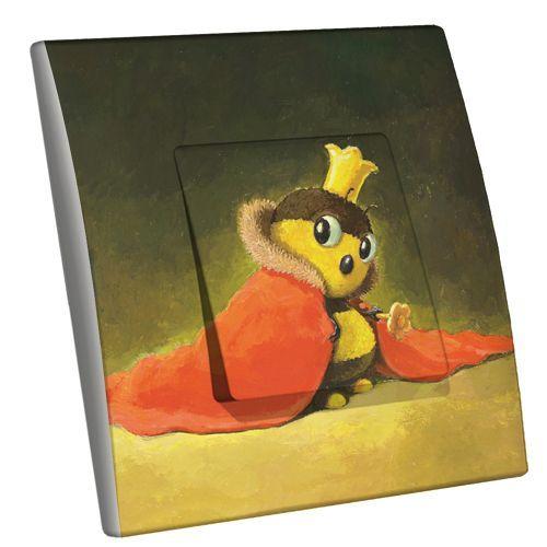 Interrupteur décoré La reine abeille simple