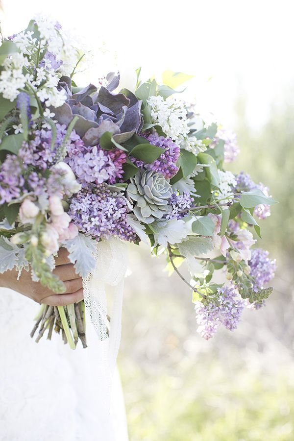 lavender wedding bouquet ~  we ❤ this! moncheribridals.com