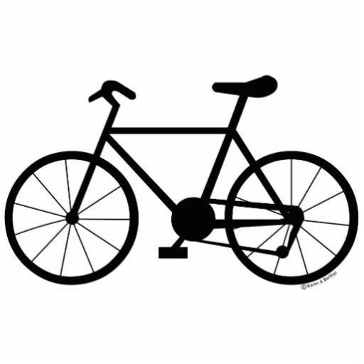 Dessin de bicyclette photo en relief