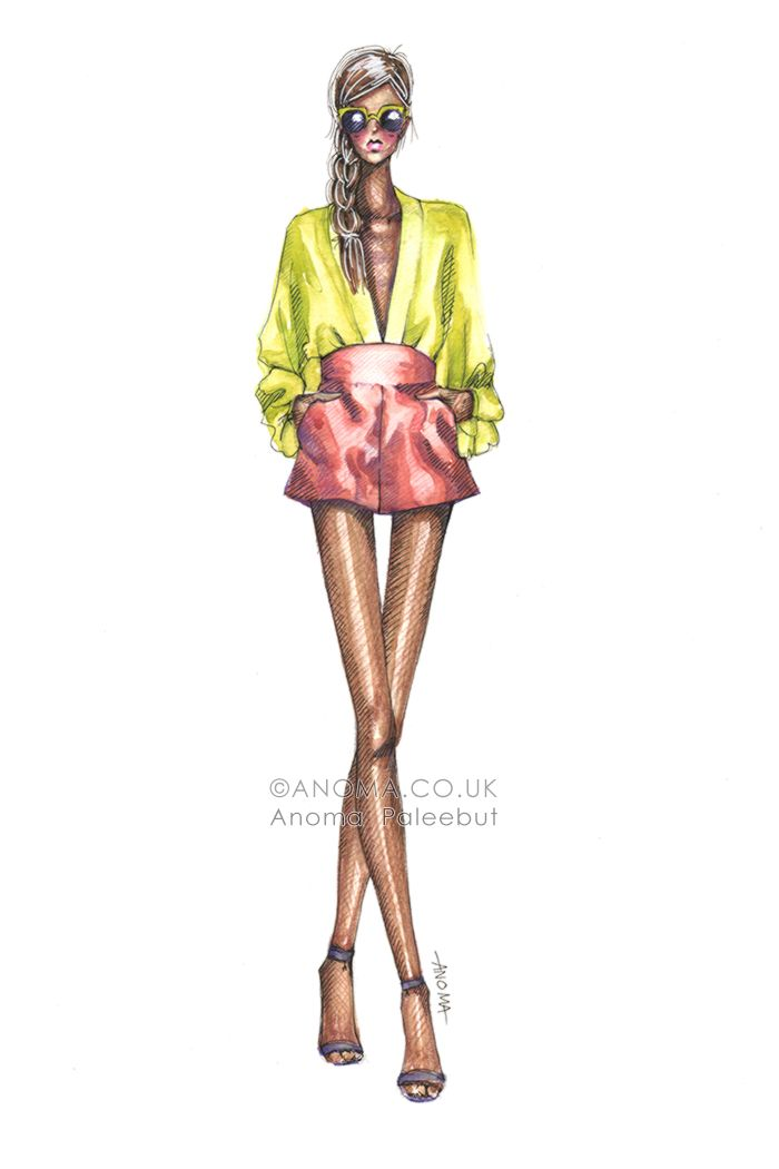Fashion Illustrations by Anoma Paleebut. Diane Von Furstenberg S/S 2013
