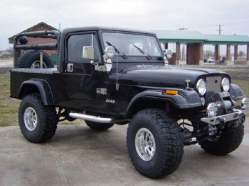jeep cj8 scrambler   siyah jeep cj 8 resmi