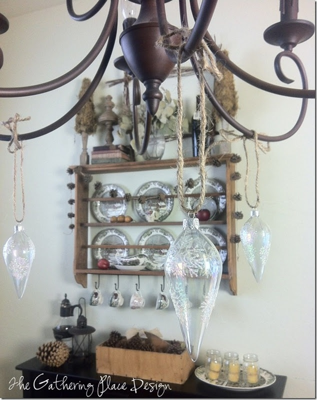 1000 images about decorations for hanging mickey mouse for Hanging ornaments from chandelier