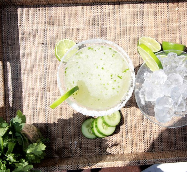 Cucumber Elderflower Margarita!