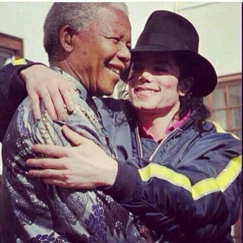 He loved music #Mandela with the iconic Michael Jackson