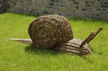 Woven from willow branches by Living Willow