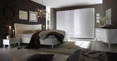 Camera da letto completa matrimoniale bianca idelshop