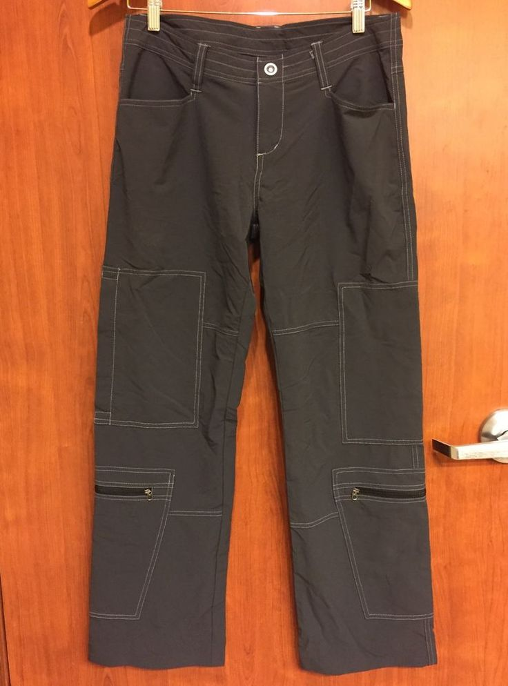 ☀KUHL Womens Charcoal Gray☀Casual Hiking Cargo Pants Nylon Spandex Sz 10 CUTE  | eBay