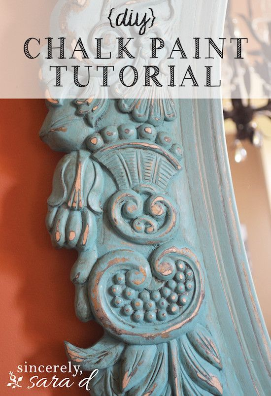 DIY chalk paint tutorial - an awesome mirror makeover using chalk paint. I love this idea and I love using chalk paint for crafts