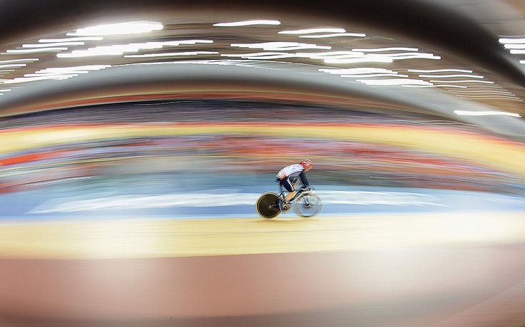 Victoria Pendleton of Great Britain in action during the Women's Sprint Track Cycling Semi Final on Day 11 of the London 2012 Olympic Games Picture: Getty images