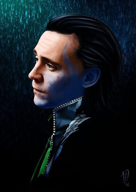 Loki Canvas Art Print or Glossy Art Print