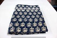 3 Yards length 108x44'' Hand Block Print dabu Fabric. Batick print fabulous
