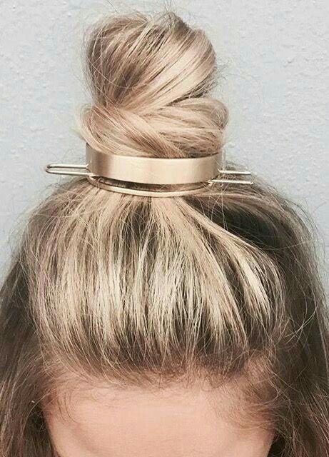 gold bun cuff hair accessory from Jen Atkin/ c+i