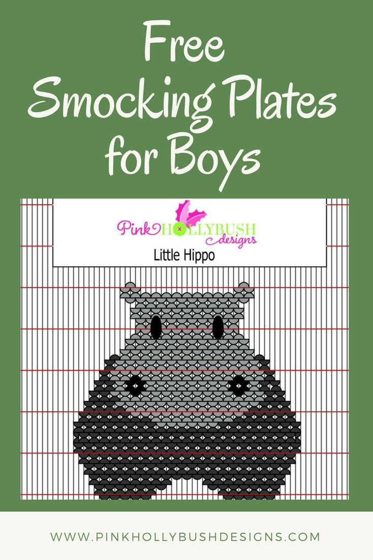 A round-up of Free Smocking Plates to stitch for the little boy in your life.