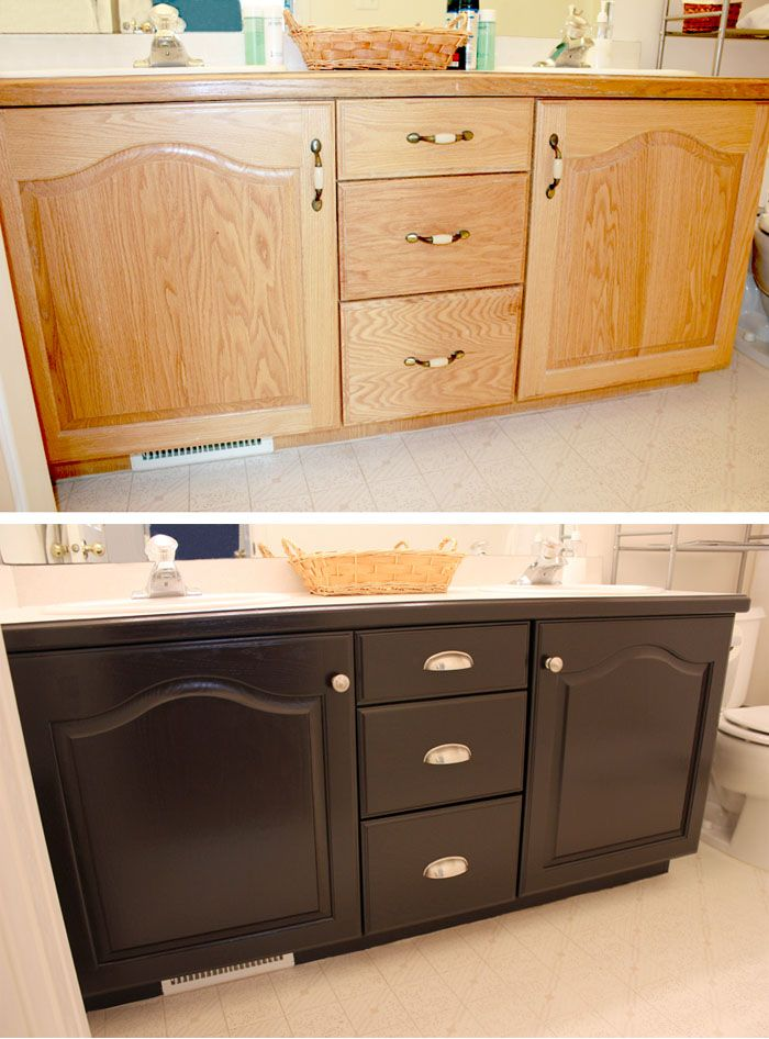"Bathroom Cabinets Makeover . . . My First Ever ""Grown Up"" DIY Project! bathr"