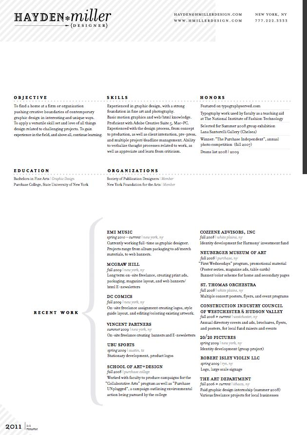 resume layout love