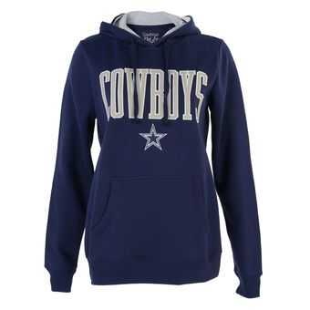 Women's Dallas Cowboys Navy Curry Pullover Hoodie