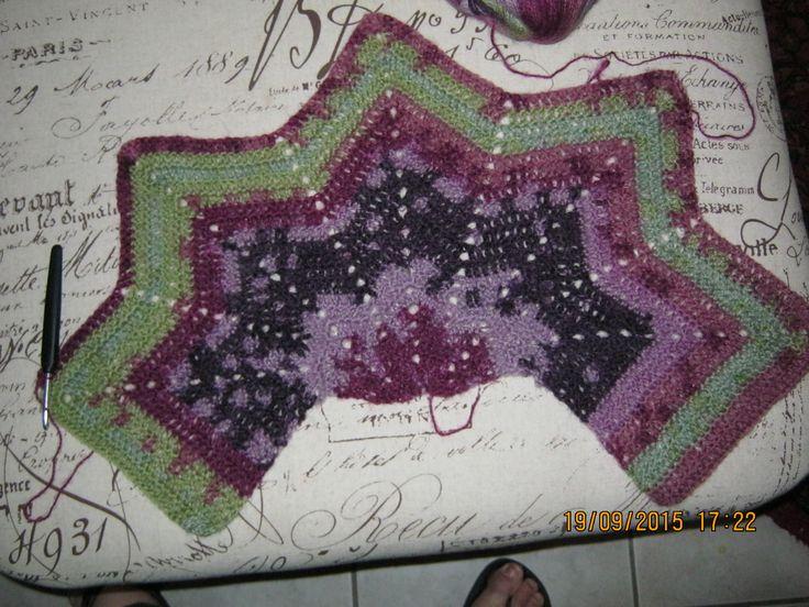 Ripple shawl