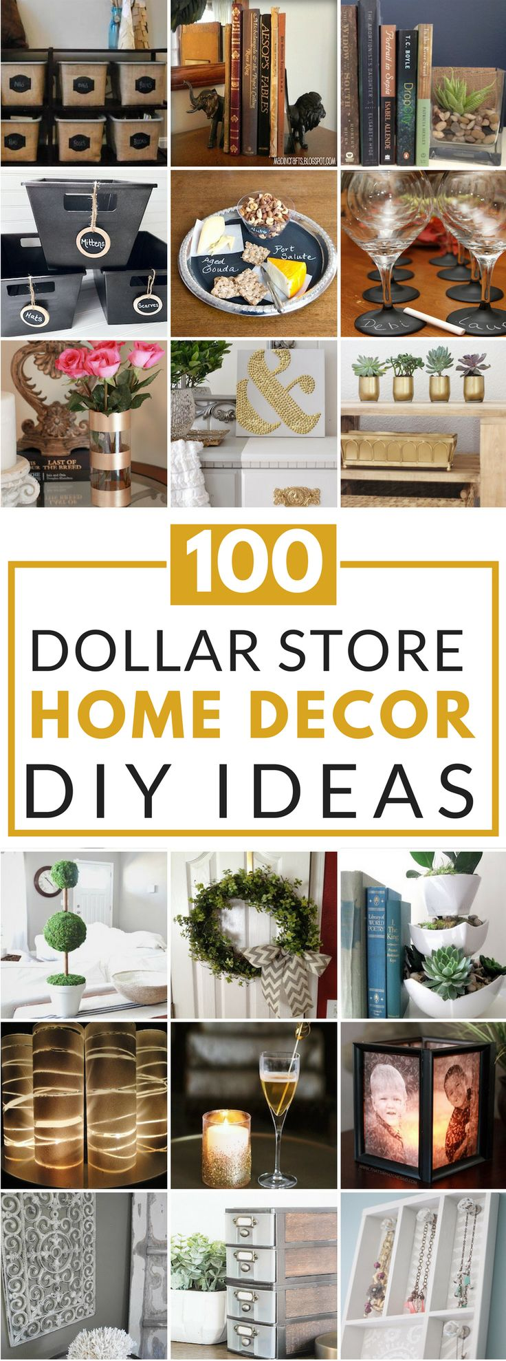 Beautiful Dollar Tree Home Decor Ideas Part - 11: 100 Dollar Store DIY Home Decor Ideas