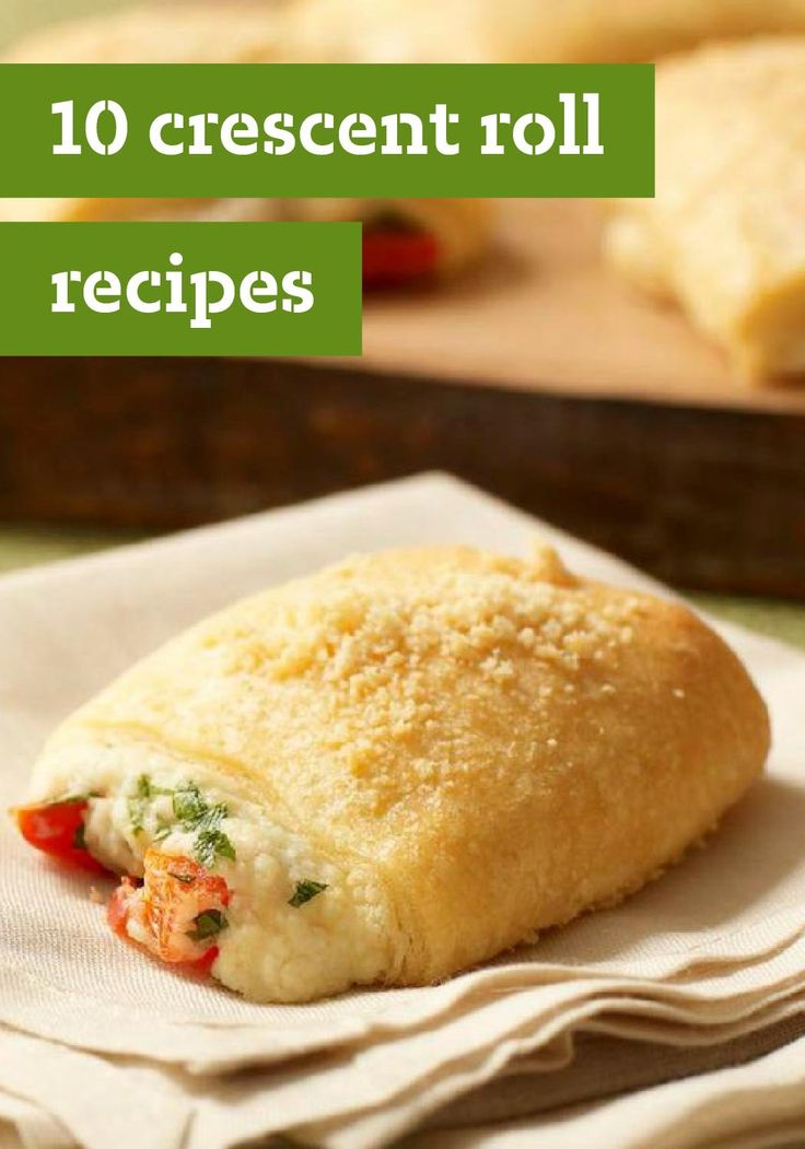 10 Crescent Roll Recipes – Flaky and wonderful when wrapped around just about anything, crescent roll recipes can make any event festive—and easy, too! You can make everything from appetizers with meat and cheese to desserts with chocolate. Whatever you choose, it's sure to be a crowdpleaser!