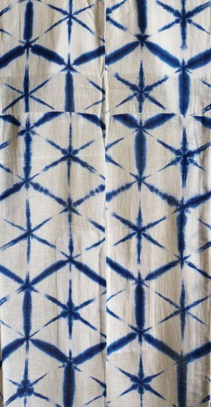 Indigo Dyed Shibori Cotton Yukata