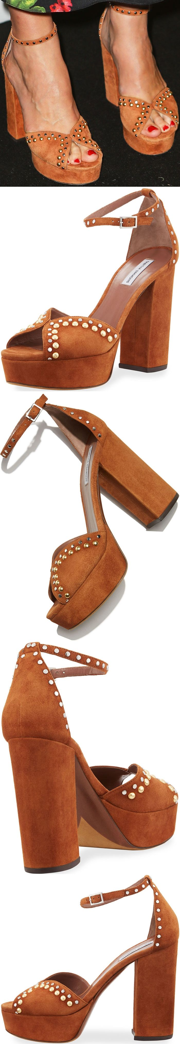 """Keira added a dash of quirkiness into the ensemble with a pair of studded Tabitha Simmons """"Julieta"""" sandals."""