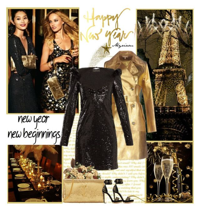 """HAPPY NEW YAR"" by lovemeforthelife-myriam-mimi ❤ liked on Polyvore featuring Gatsby, Anthropologie, Michael Kors, Dundas, Yves Saint Laurent and Alexander McQueen"