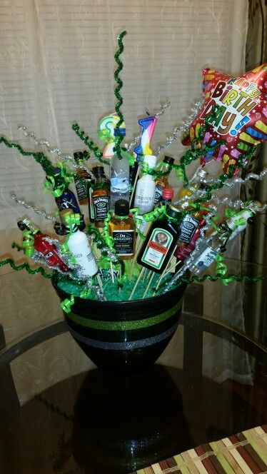 17 Best Ideas About Alcohol Gift Baskets On Pinterest