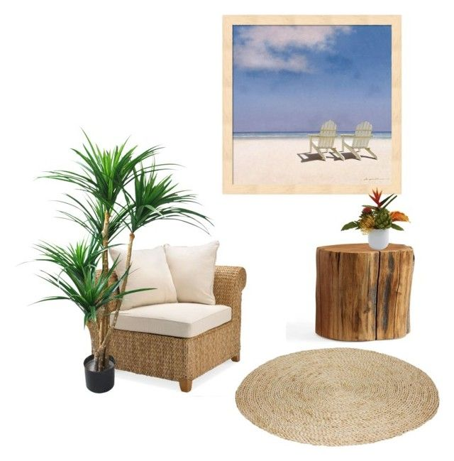 """""""touch of summer"""" by kayearnold on Polyvore featuring interior, interiors, interior design, home, home decor, interior decorating and Pottery Barn"""