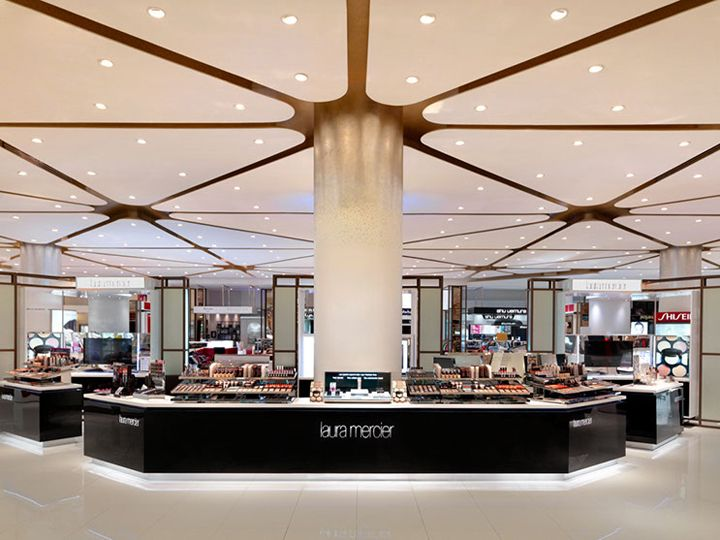 Siam Paragon Malls beauty department store by HMKM, Bangkok Thailand department store cosmetics