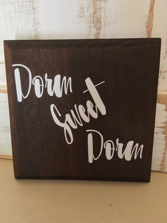 Dorm Sweet Dorm Shabby Chic Dorm Room Sign by CottageSerendipity